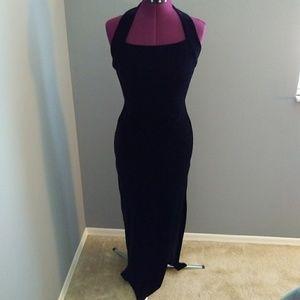 Dresses & Skirts - Handmade Halter Neck Velvet Stretch Dress